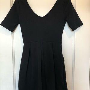 Lush scoop neck little black dress